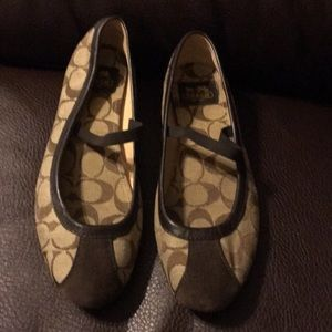 Coach ballerina slip on shoes size 8